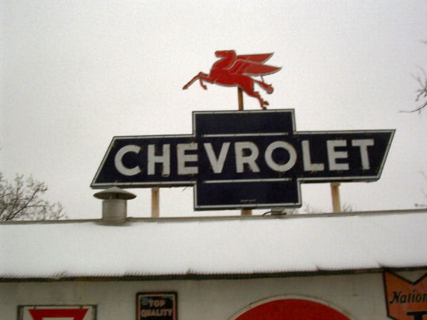 Very Rare Chevrolet Bowtie Outdoor Sign #4